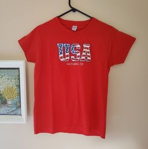 USA America red tee